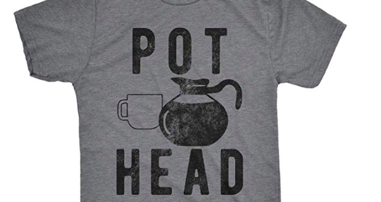 Coffee t-shirt of the week: Pot head
